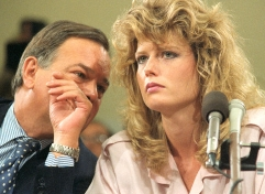 Fawn Hall with Her Attorney at the Iran Contra Hearings